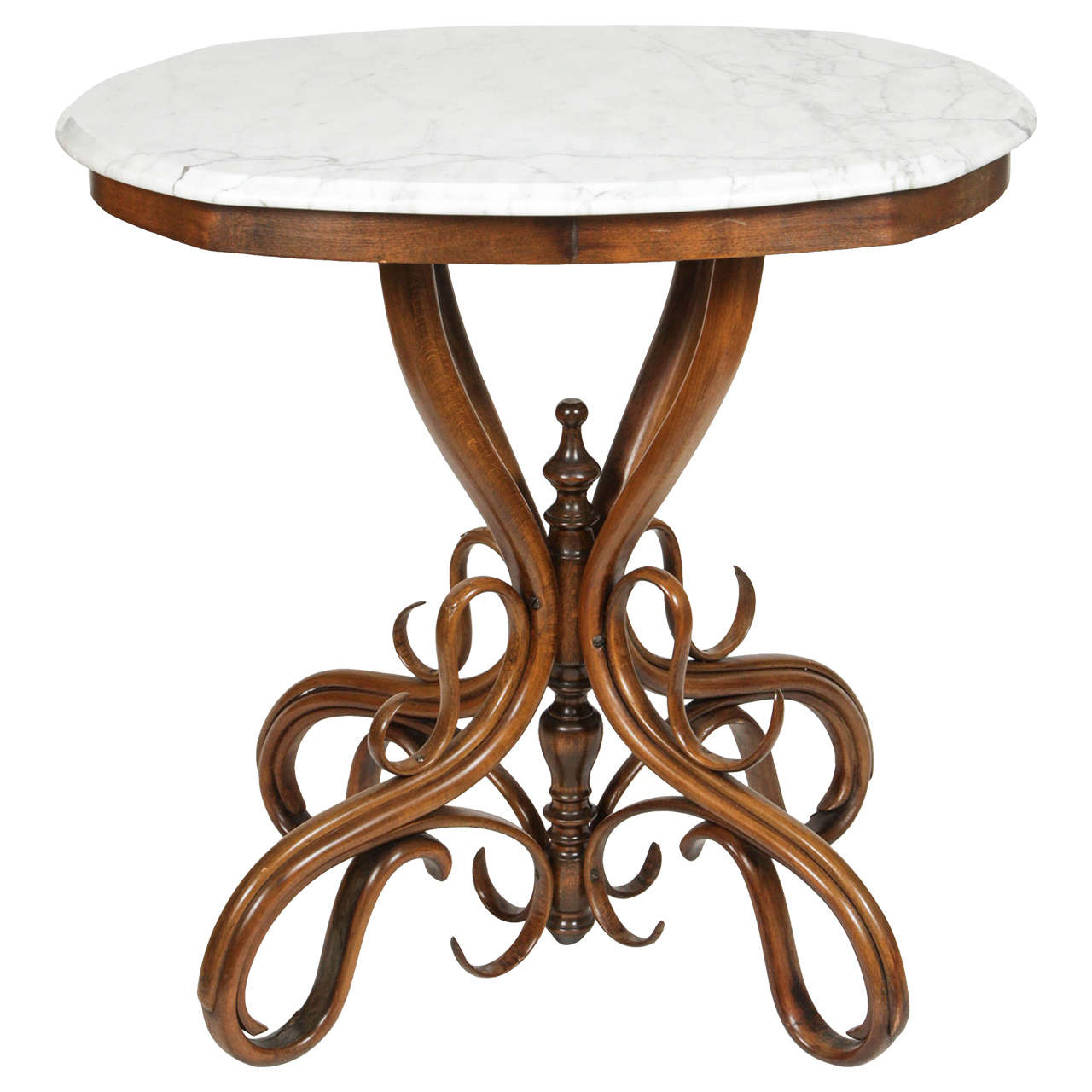 Thonet bentwood occasional table at 1stdibs for Table thonet