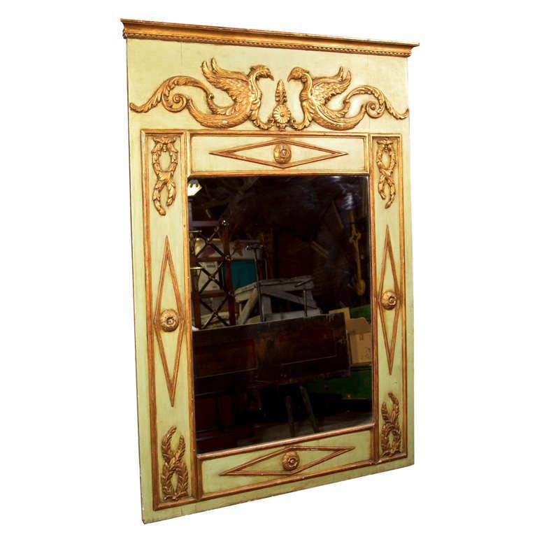19th Century French Giltwood Trumeau Mirror