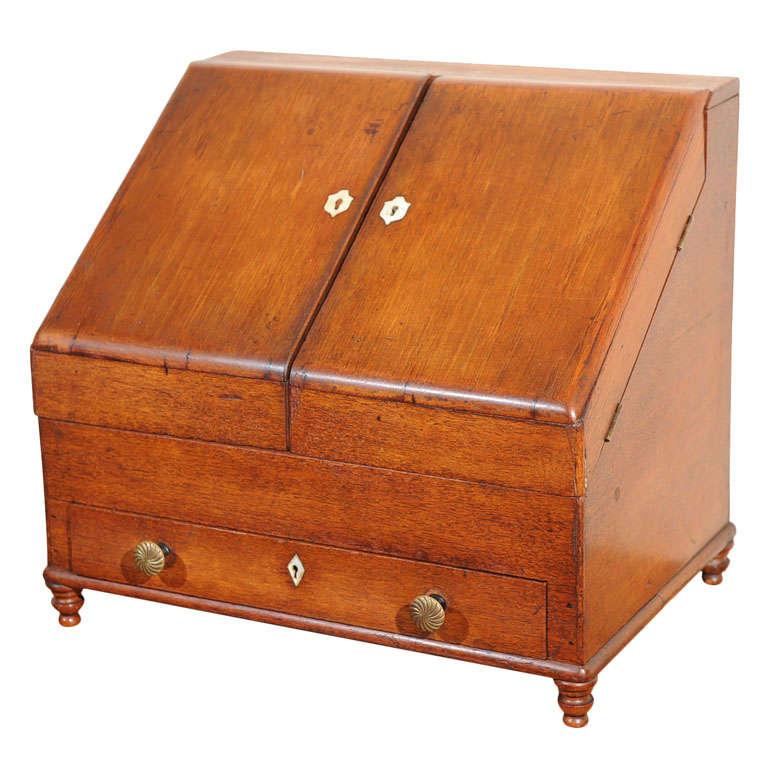Early victorian desk organizer at 1stdibs - Cherry desk organizer ...
