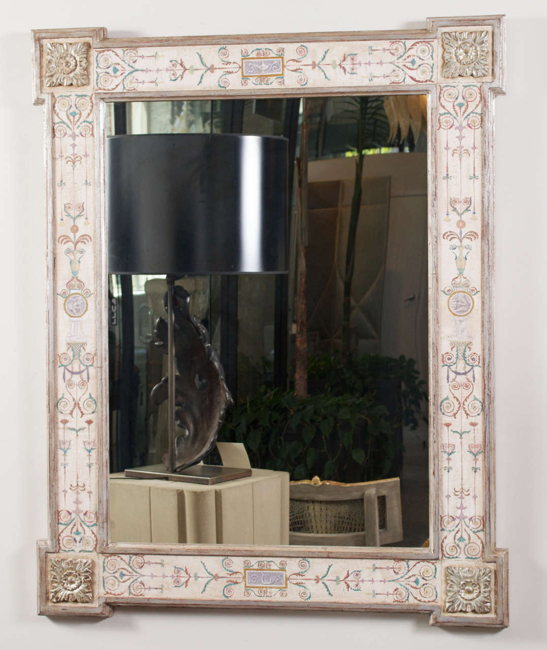"Hand-Painted Neoclassical ""Pompeii"" Mirror 2"