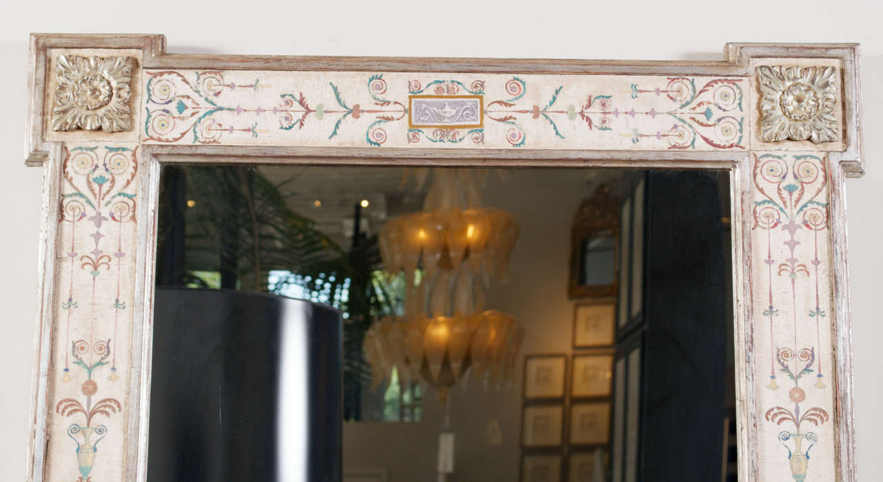 "Hand-Painted Neoclassical ""Pompeii"" Mirror 4"