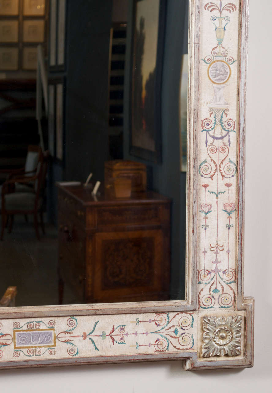 "Hand-Painted Neoclassical ""Pompeii"" Mirror 5"