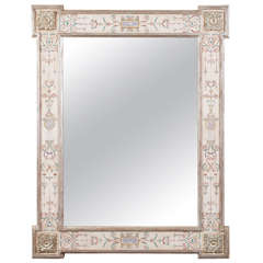 "Hand-Painted Neoclassical ""Pompeii"" Mirror"