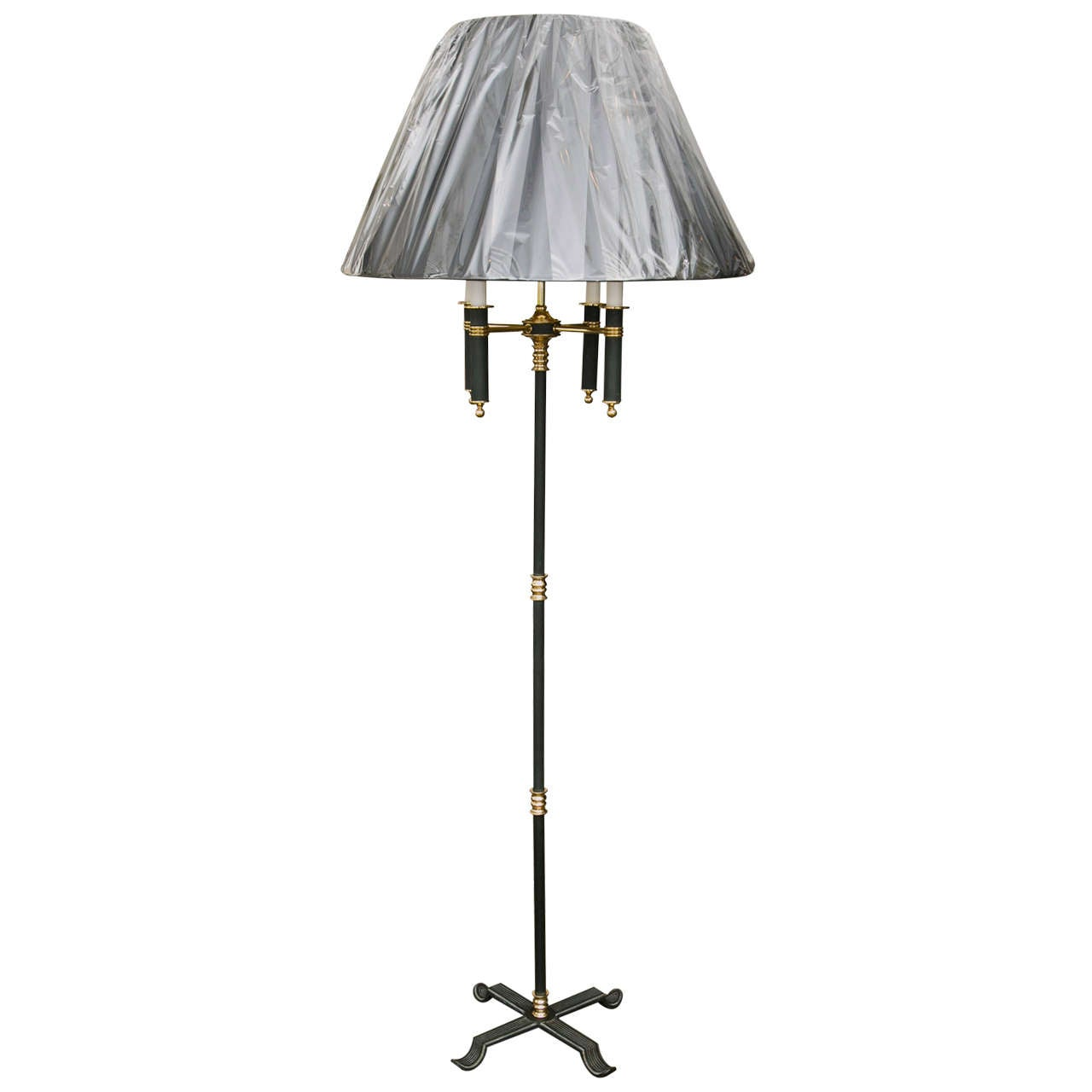 Brass & Painted Directoire Floor Lamp