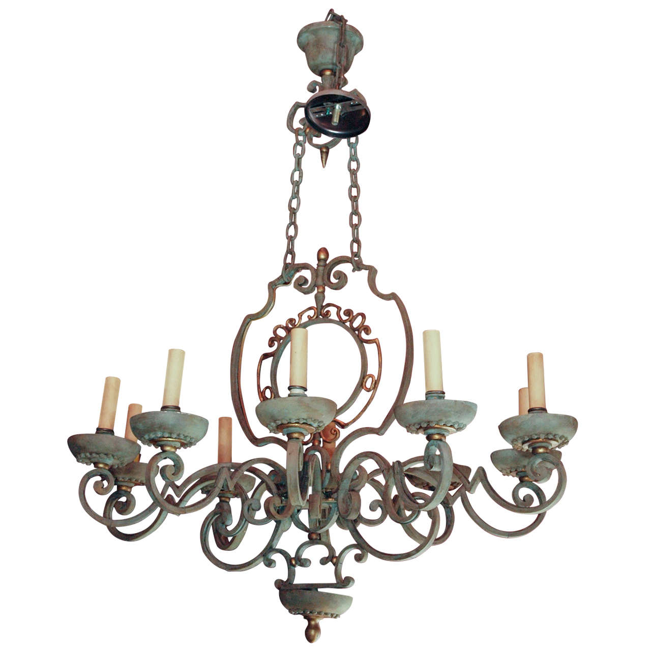 French country vintage iron chandelier at 1stdibs French country chandelier