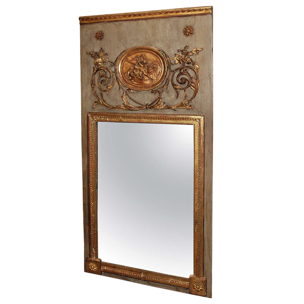 louis xvi trumeau mirror at 1stdibs. Black Bedroom Furniture Sets. Home Design Ideas