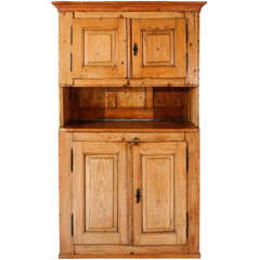 Late 19th Century French Pine Hutch Cabinet