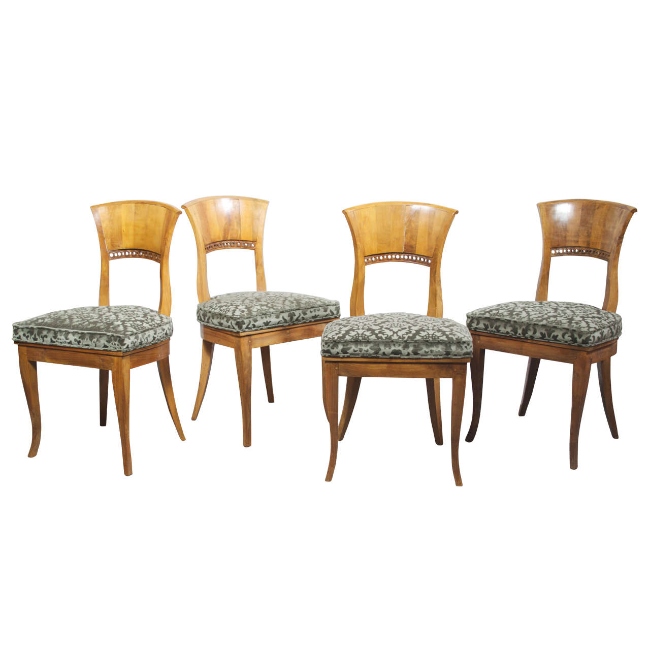 Set Of Four 19th Century Biedermeier Chairs Saturday Sale At 1stdibs