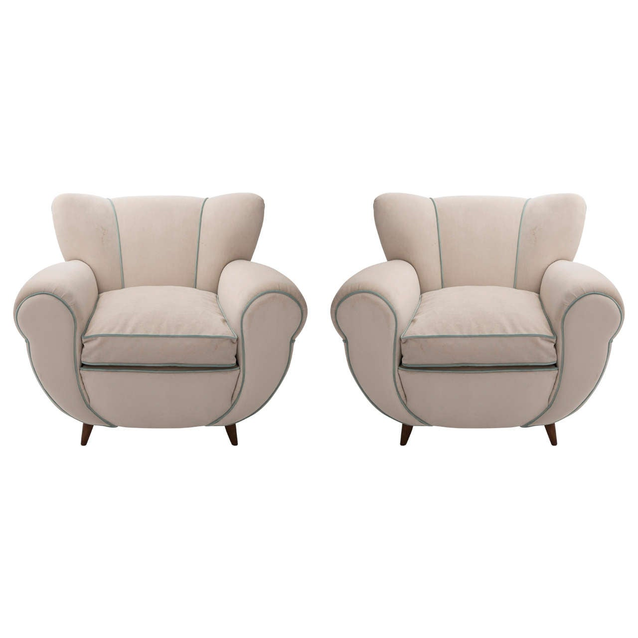 Guglielmo Ulrich attributed pair of armchairs, Italy circa 1940