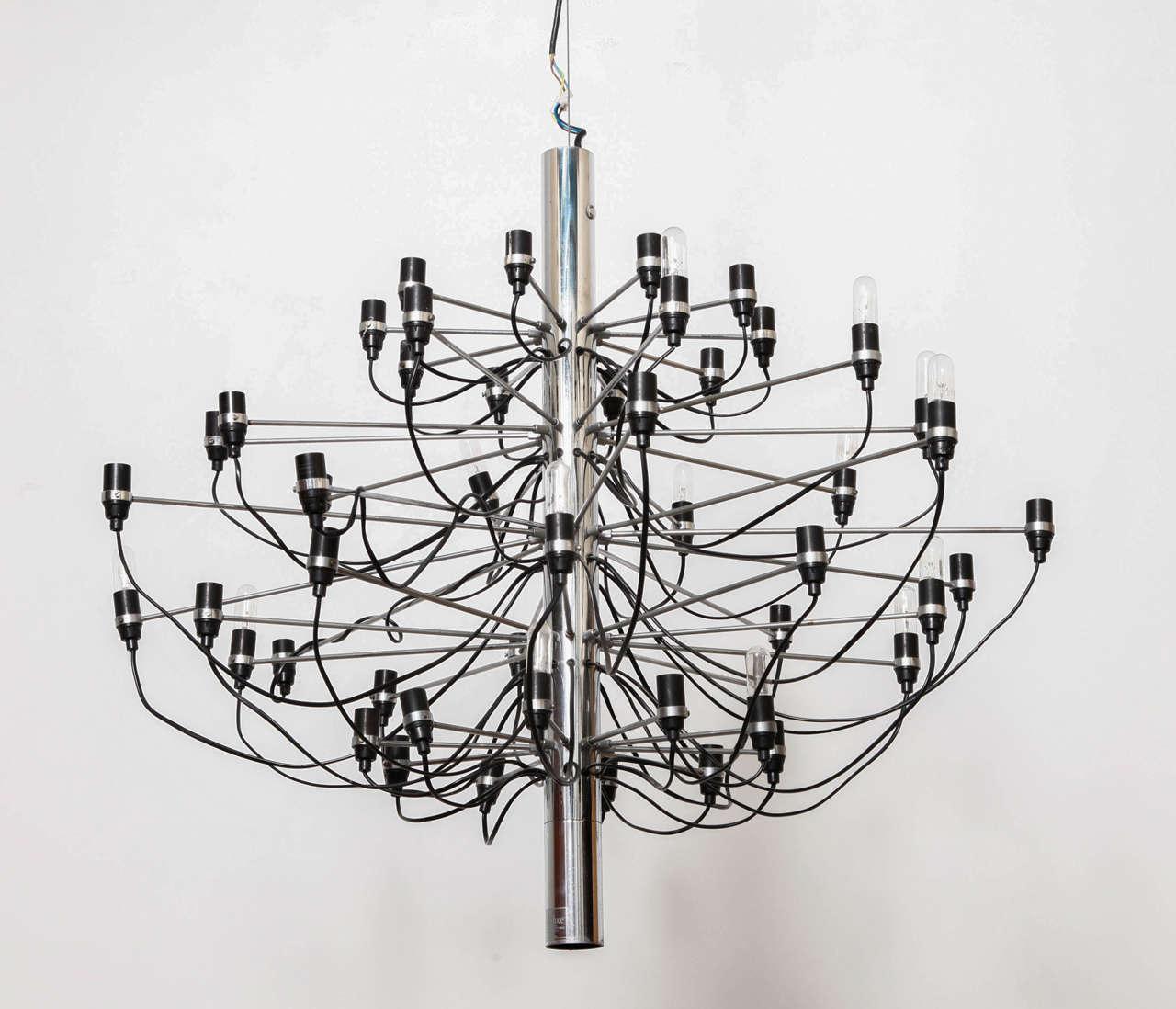"""Gino Sarfatti """"2097"""" Chandelier by Arteluce, 1959 2"""