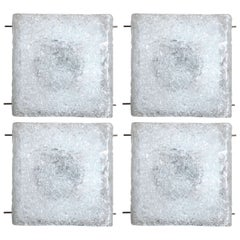 Textured Ice Glass Wall Lights by Hillebrand