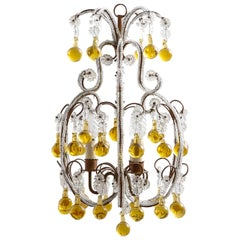 French Regency Crystal Beads Chandelier