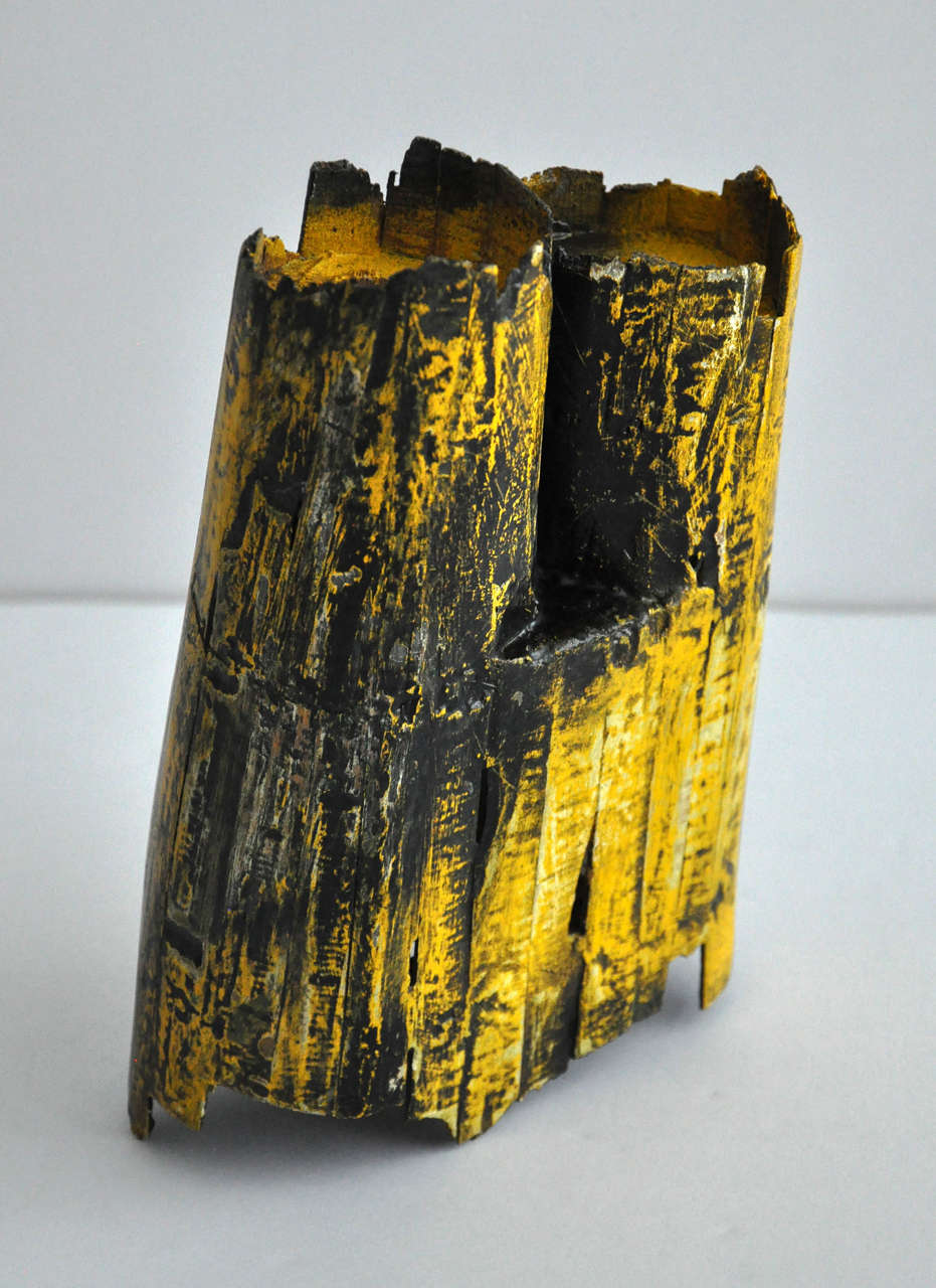 1980s Painted Wood Sculpture by Gordon Powell 5