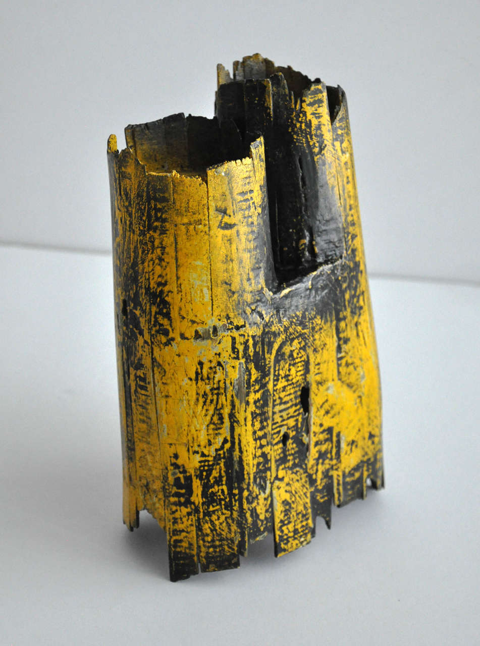1980s Painted Wood Sculpture by Gordon Powell 7