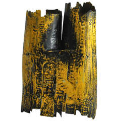1980s Painted Wood Sculpture by Gordon Powell