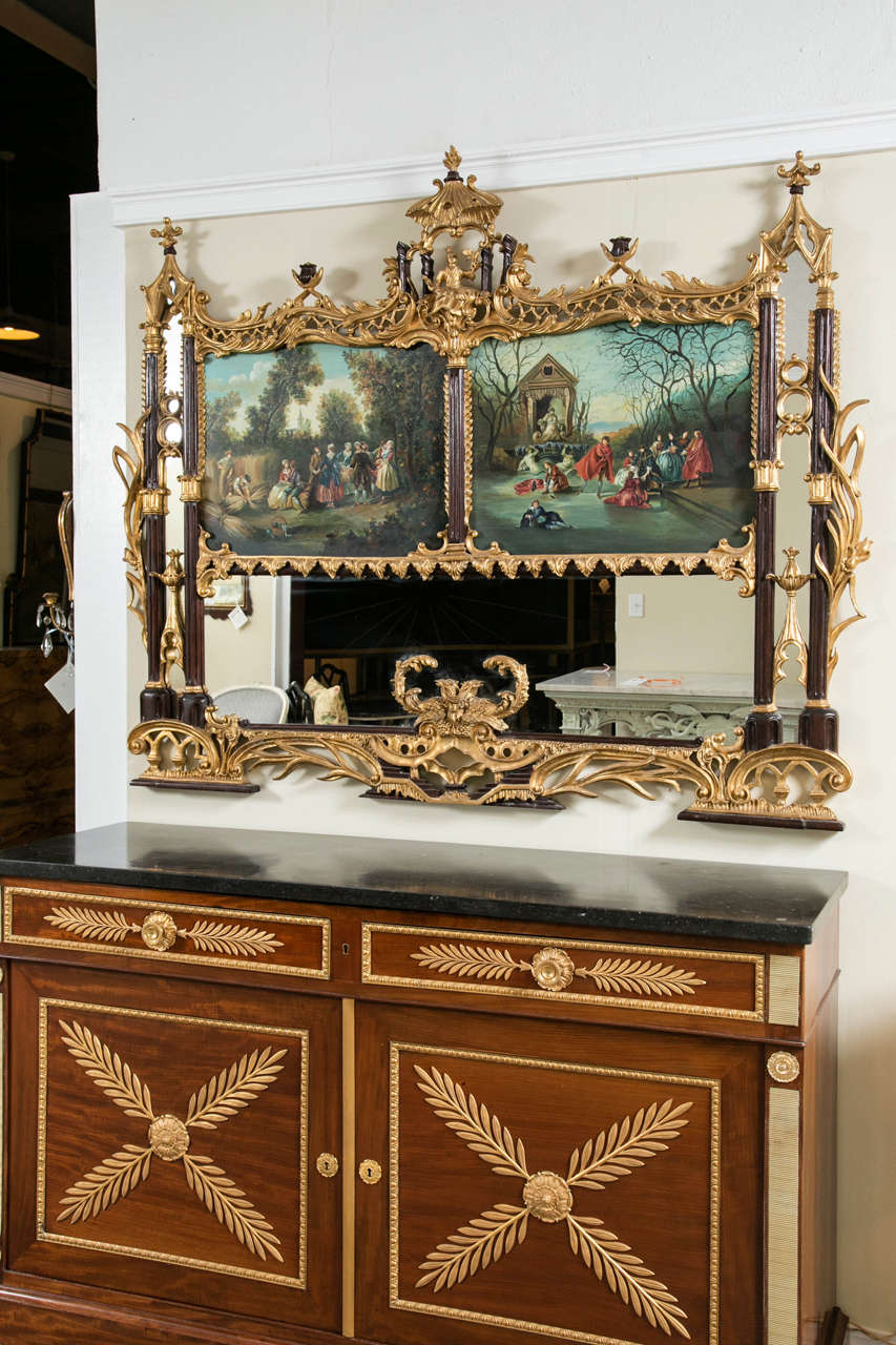 Pair of palatial chinese chippendale style mirrors at 1stdibs for Asian style mirror
