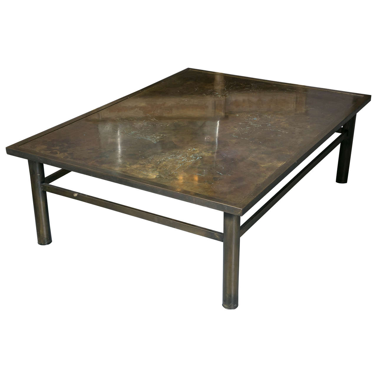Philip U0026 Kelvin Laverne Acid Etched Bronze Zodiac Coffee Table 1