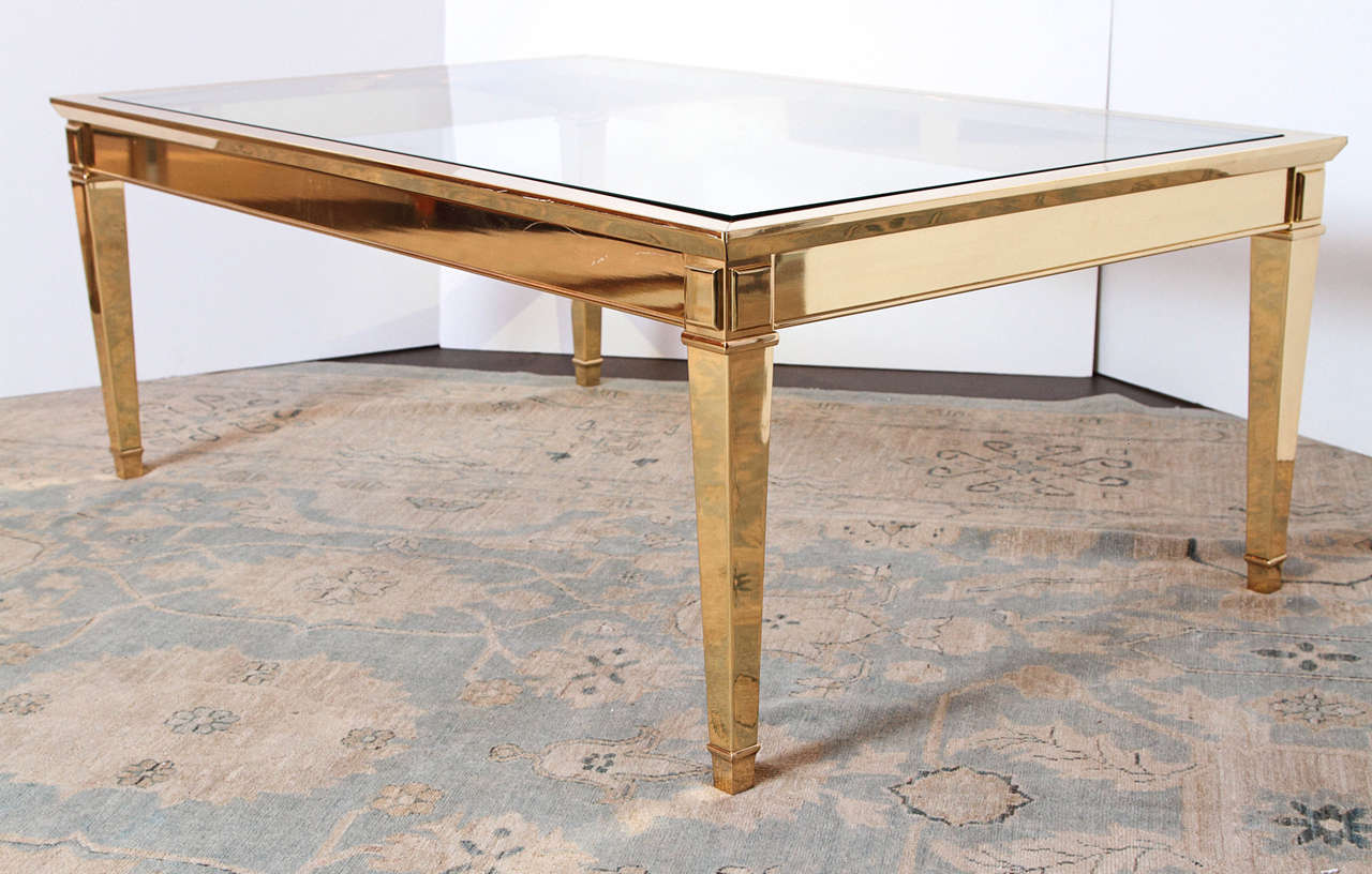 Italian louis xvi style brass coffee table 1970s for sale at 1stdibs Tuscan style coffee table