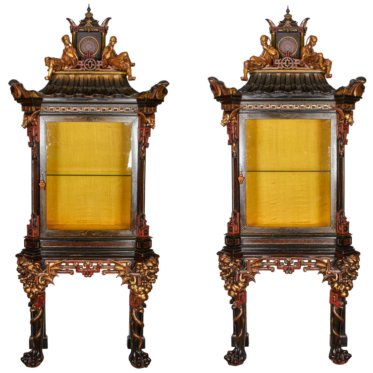 Pair Of French Chinoiserie Cabinets At 1stdibs