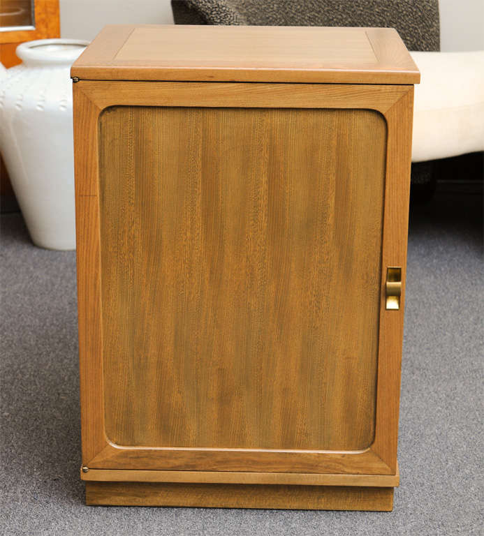 Mid-Century Modern Edward Wormley Silver Elm Dry Bar Cabinet For Sale