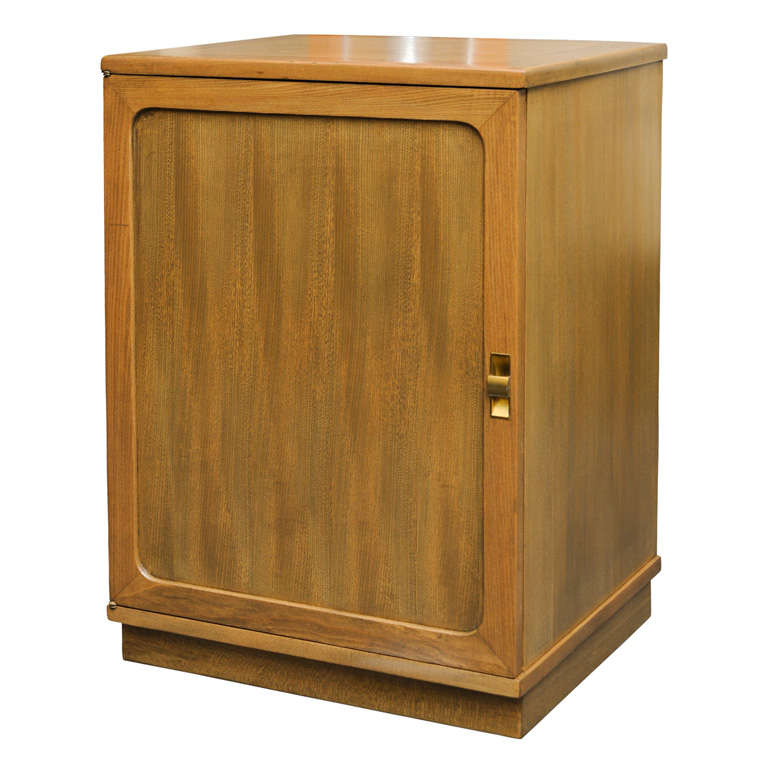 Edward Wormley Silver Elm Dry Bar Cabinet For Sale