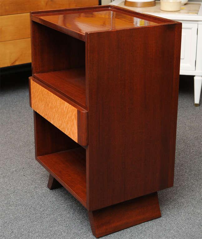 Eliel saarinen streamline moderne nightstand for rway at for Eliel saarinen furniture