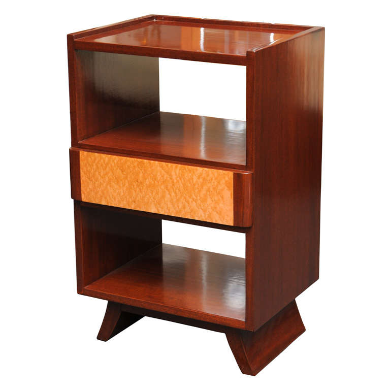 Eliel saarinen streamline moderne nightstand for rway at for Eliel saarinen furniture
