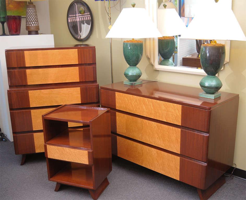 Awesome 1940s Streamline Moderne Dresser By Rway At 1stdibs. Streamline Moderne  Furniture