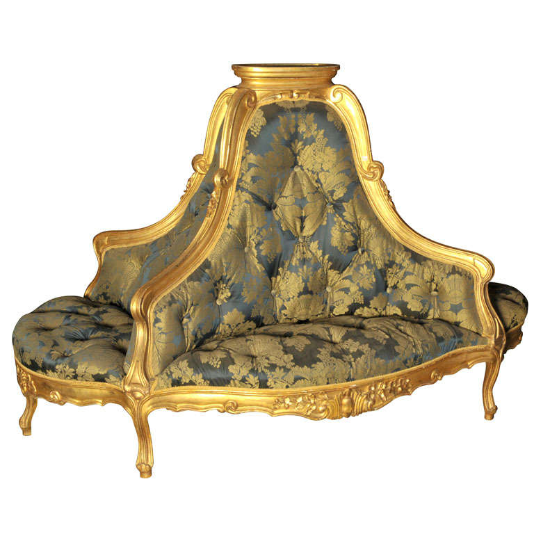 Gilt Wooden French Quot Lobby Sofa Quot At 1stdibs