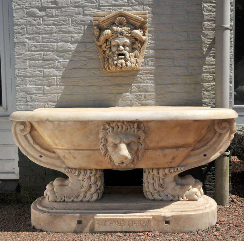 Carved Stone Crown : Carved carrara marble coat of arms at stdibs