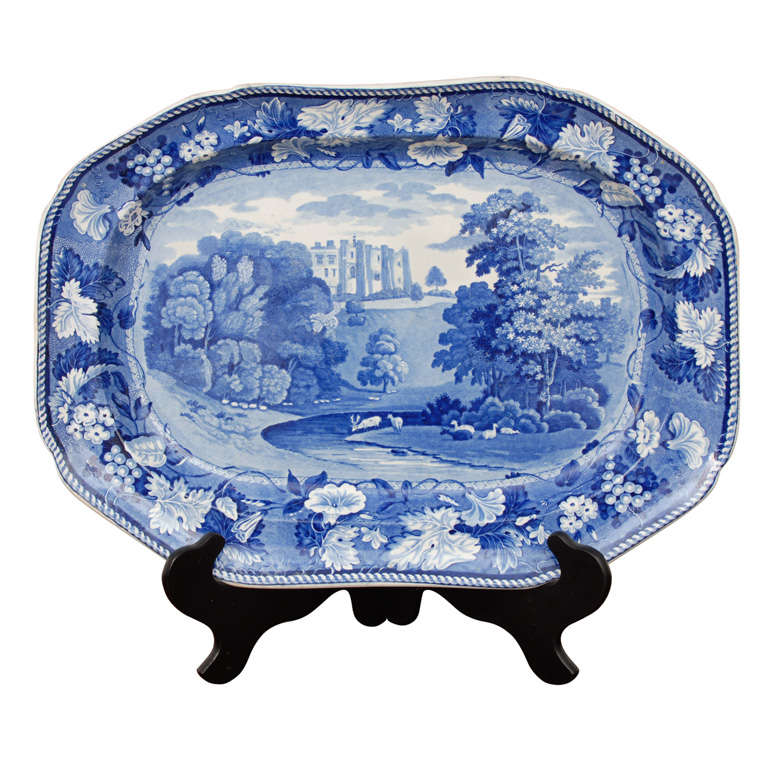 "Staffordshire Platter  ""Brancepeth Castle"""