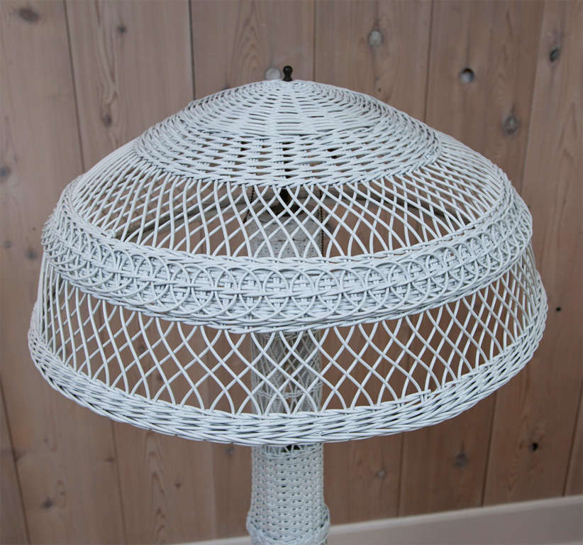 Antique wicker floor lamp for sale at 1stdibs antique wicker floor lamp for sale 1 aloadofball Gallery