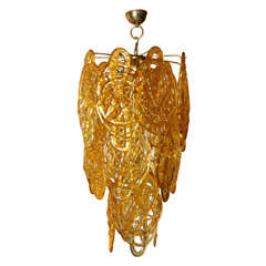 Very Large and Impressive Murano Glass Mazzega Chandelier