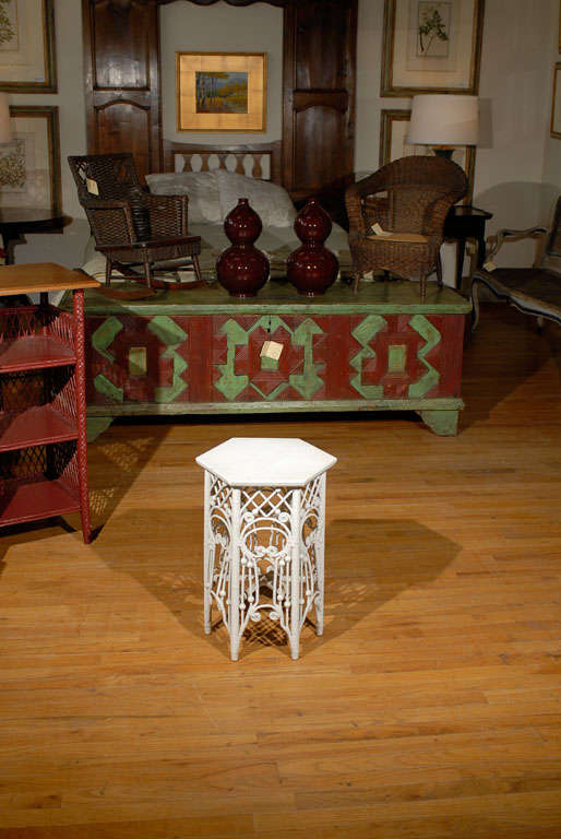 American Victorian Wicker Taboret Table 3