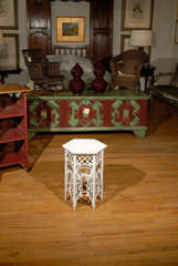 American Victorian Wicker Taboret Table image 3