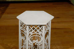 American Victorian Wicker Taboret Table image 4