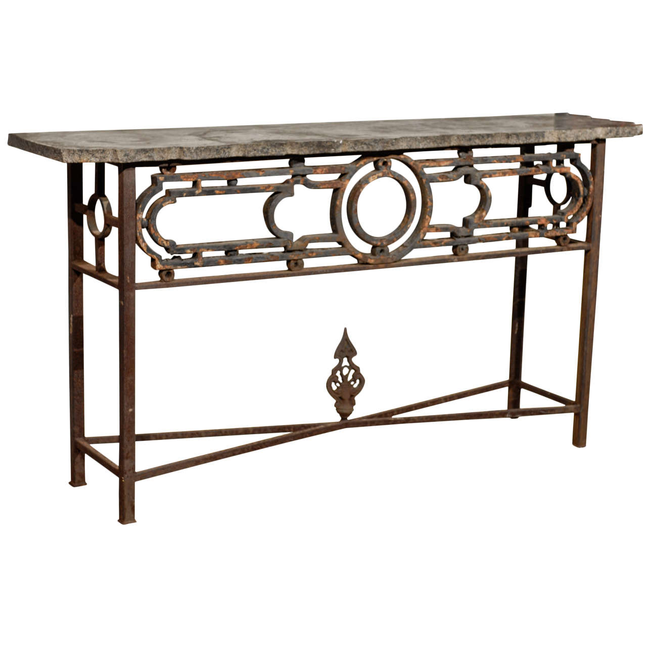 Iron Console Table : Iron Console Table For Sale at 1stdibs