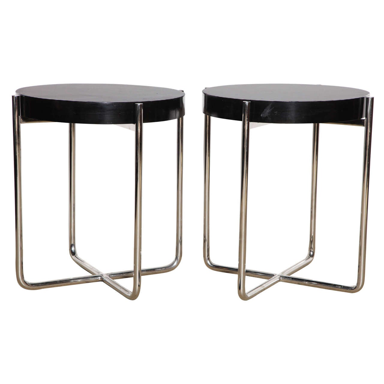 Pair Of Ludwig Mies Van Der Rohe End Tables At 1stdibs