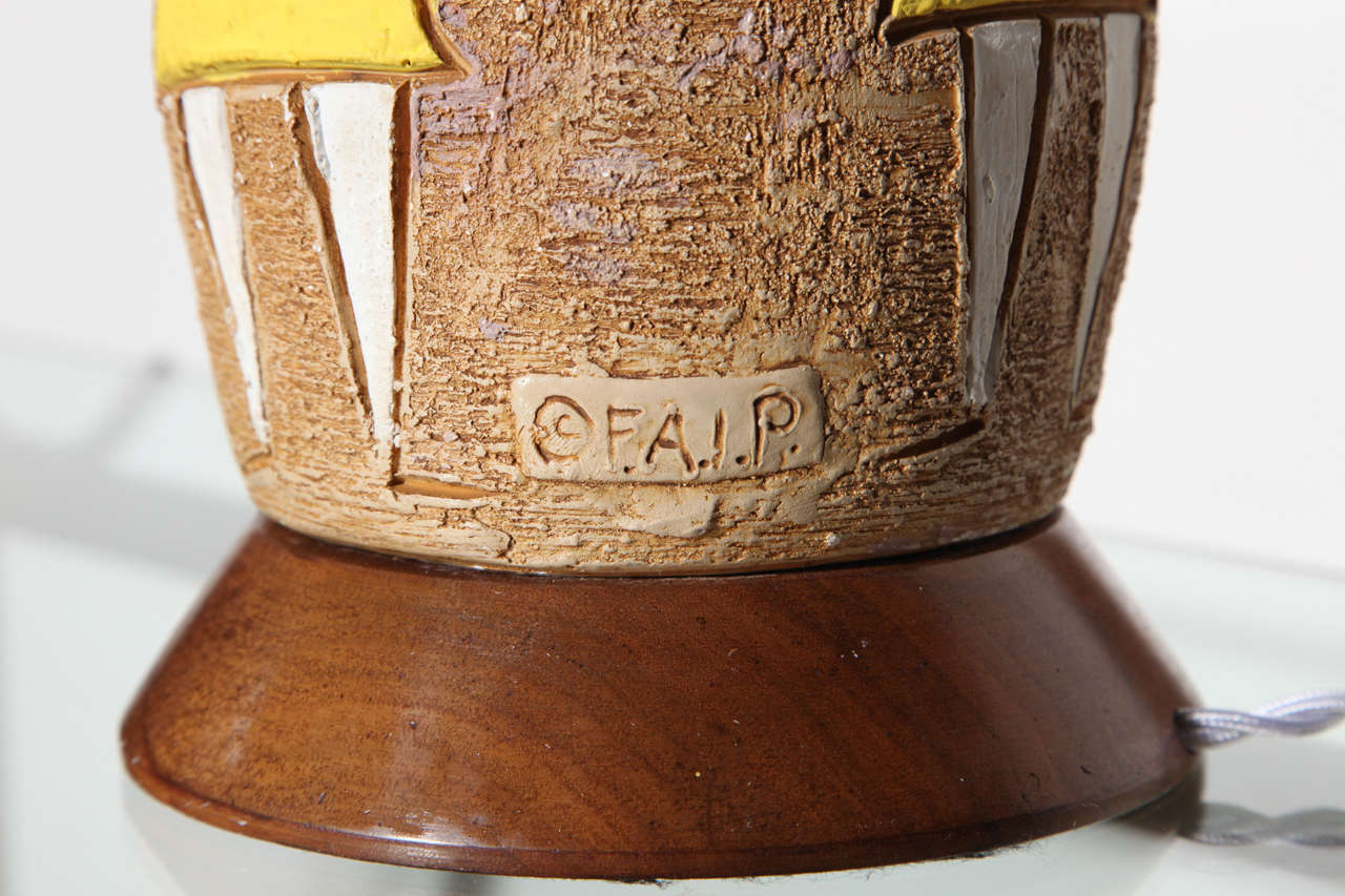 Substantial Frederick Weinberg Fine Art In Plaster Figurine Table Lamp, 1950s For Sale 3