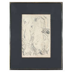 Trois Baigneuses Devant le Port de Sainte-Adresse Lithograph by Raoul Dufy