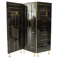 Lacquer & Brass Divider by Frank Kyle