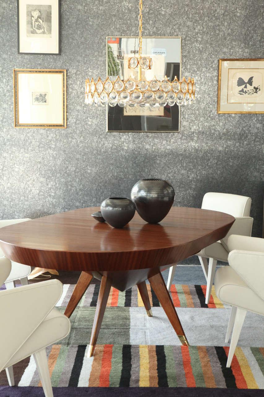 this custom made ribbon mahogany dining table is no longer available
