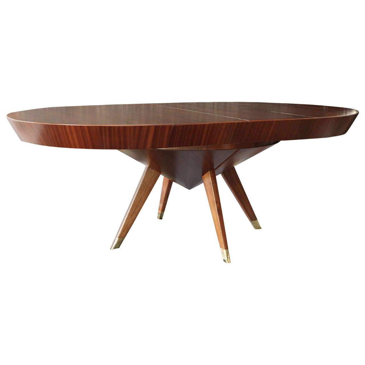 Custom Built Dining Room Tables: Custom Made Ribbon Mahogany Dining Table At 1stdibs