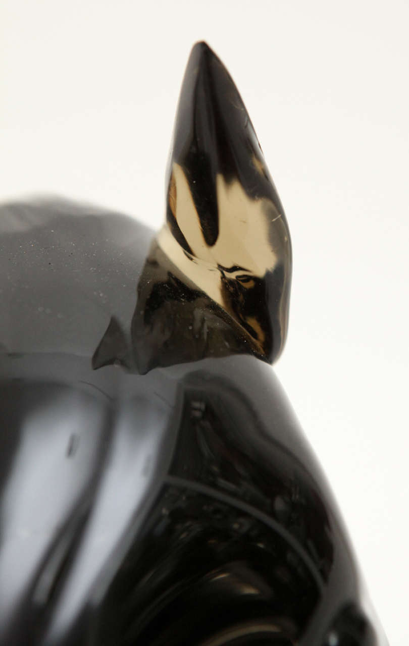 Late 20th Century Murano Glass Sculpture by Ermanno Nason For Sale