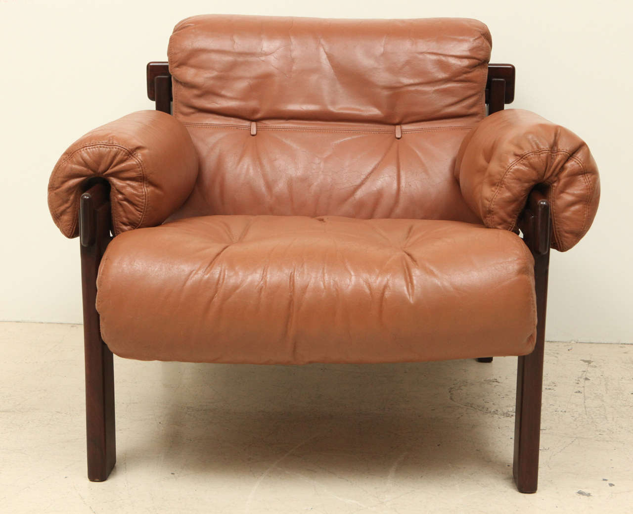 Mid-Century Modern Pair of Arne Norell Leather Armchairs