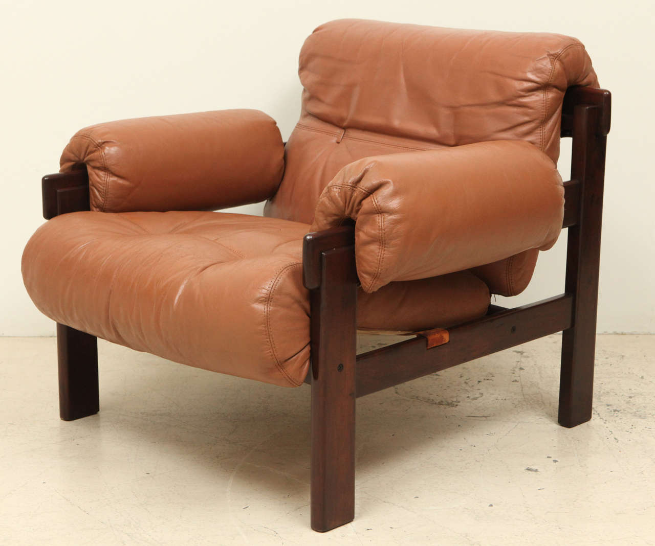 Pair of Arne Norell Leather Armchairs In Excellent Condition In Los Angeles, CA