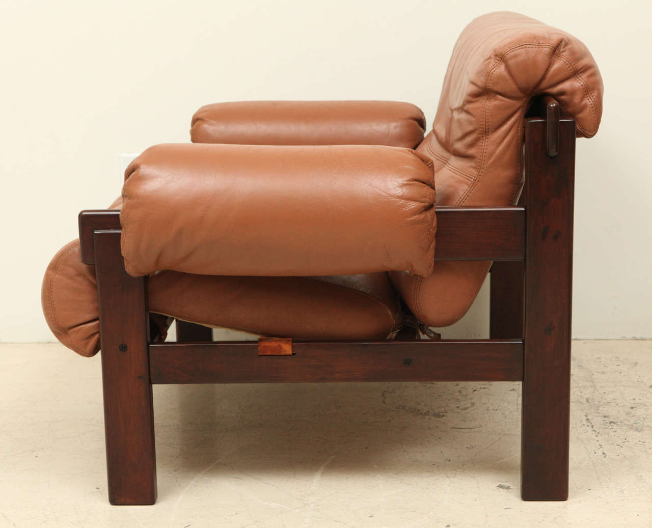 Mid-20th Century Pair of Arne Norell Leather Armchairs