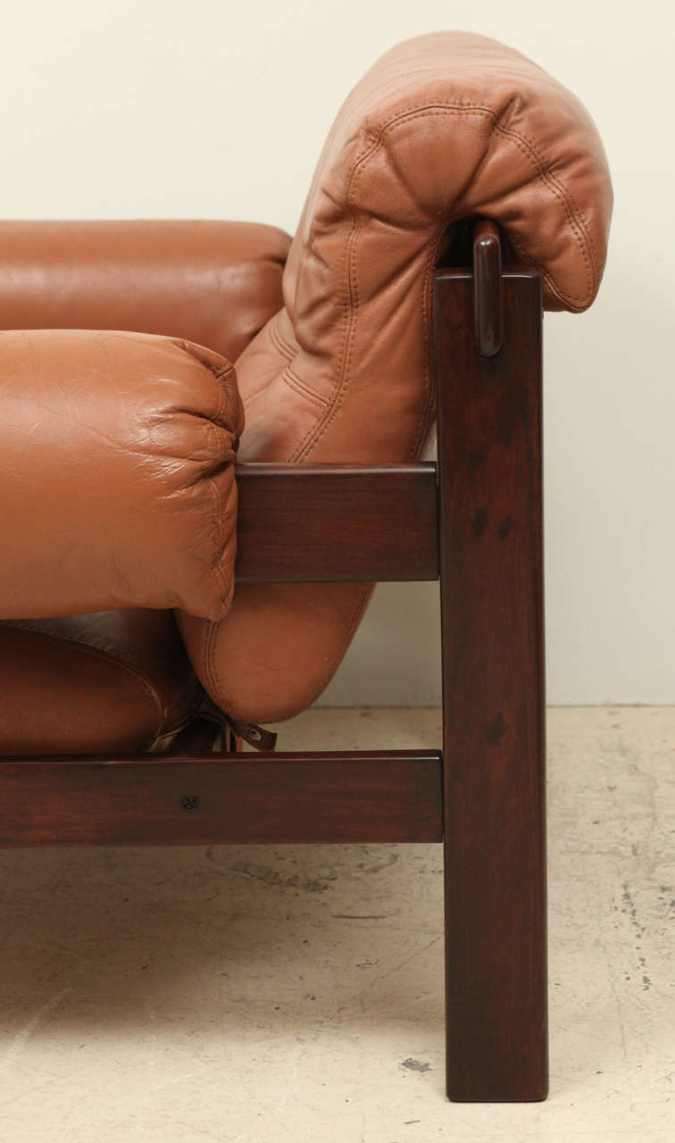 Pair of Arne Norell Leather Armchairs 1