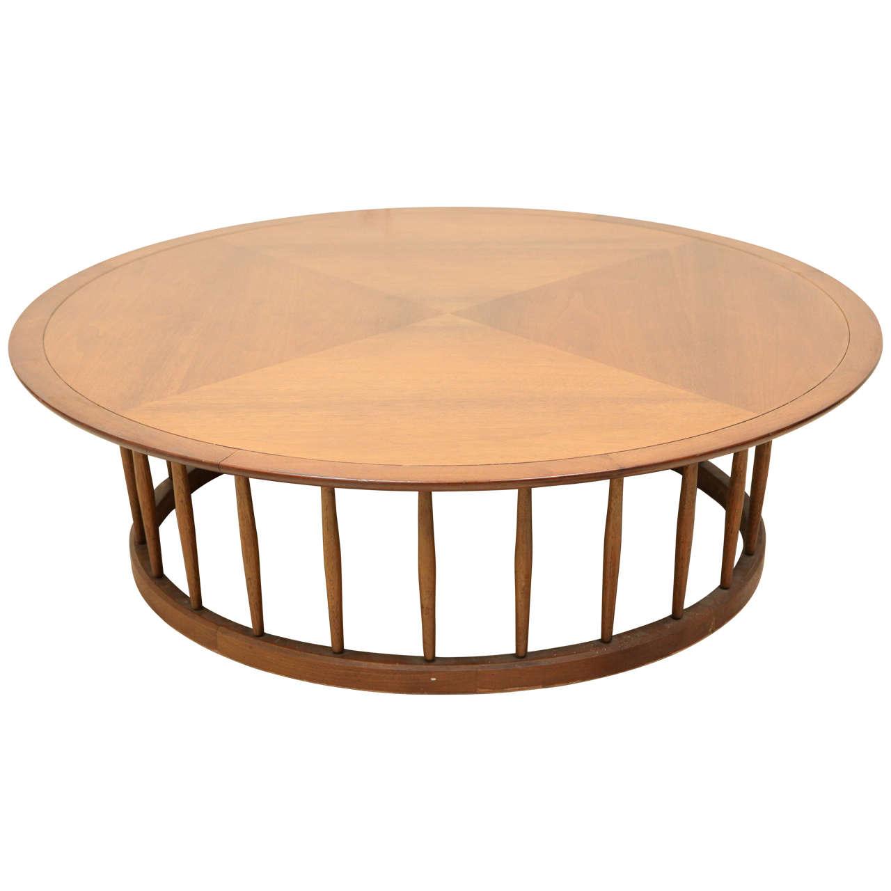 John Van Koert Round Spindle Coffee Table For Drexel At 1stdibs