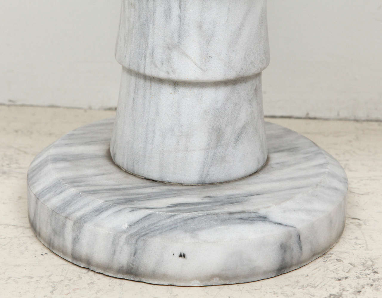 Mid-20th Century Marble Pedestal Side Table For Sale